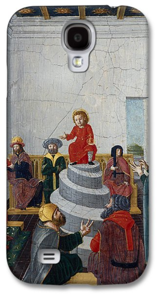 Christ Child Galaxy S4 Cases - Christ Disputing With The Doctors Oil On Panel Galaxy S4 Case by Bernadino Jacobi Butinone