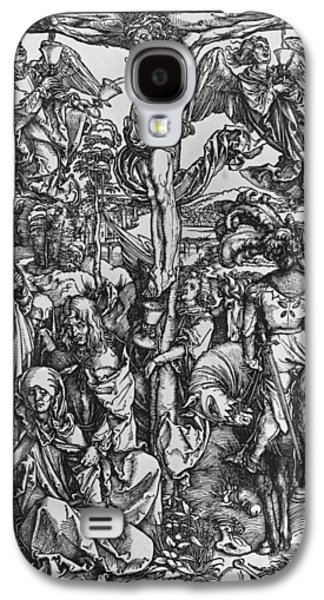 Religious Drawings Galaxy S4 Cases - Christ on the cross Galaxy S4 Case by Albrecht Durer or Duerer