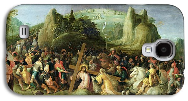 Calvary Galaxy S4 Cases - Christ on the Road to Calvary Galaxy S4 Case by Frans II the Younger Francken