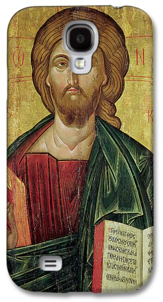Greek Icon Paintings Galaxy S4 Cases - Christ Pantocrator Galaxy S4 Case by Bulgarian School