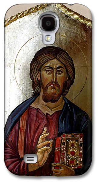 Byzantine Paintings Galaxy S4 Cases - Christ Pantocrator Galaxy S4 Case by Filip Mihail