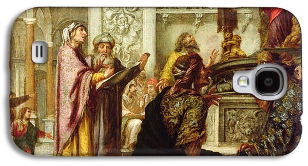 Doctor Photographs Galaxy S4 Cases - Christ Preaching In The Temple, 1686 Oil On Canvas Galaxy S4 Case by Juan de Valdes Leal
