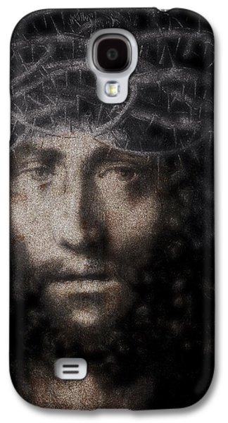 Jesus Christ Icon Galaxy S4 Cases - Christ Suffering Galaxy S4 Case by Daniel Hagerman