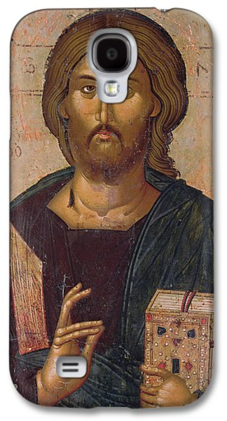 Orthodox Paintings Galaxy S4 Cases - Christ the Redeemer Galaxy S4 Case by Byzantine School