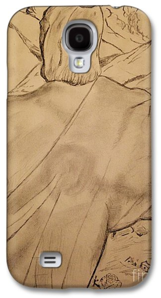 Religious Drawings Galaxy S4 Cases - Christ the Redeemer  Galaxy S4 Case by Navroz  Raje