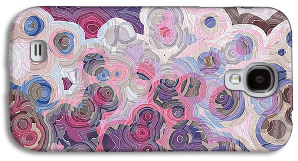 Purple Abstract Beige Galaxy S4 Cases - Christian Art- Mark. Mark 1 1 Galaxy S4 Case by Mark Lawrence