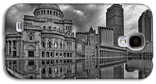 Urban Galaxy S4 Cases - Christian Science Center Boston BW Galaxy S4 Case by Susan Candelario