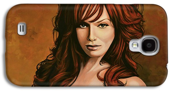 Court Galaxy S4 Cases - Christina Hendricks Galaxy S4 Case by Paul  Meijering