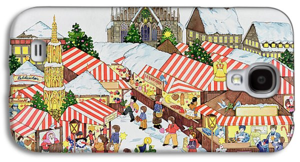 Sledge Galaxy S4 Cases - Christkindlmarket, Nuernberg, 1987 Wc On Paper Galaxy S4 Case by Christian Kaempf