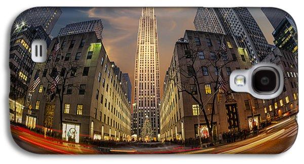 Susan Candelario Galaxy S4 Cases - Christmas At Rockefeller Center Galaxy S4 Case by Susan Candelario
