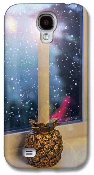Candle Stand Galaxy S4 Cases - Christmas Candle Galaxy S4 Case by Brian Wallace