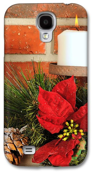 Candle Stand Galaxy S4 Cases - Christmas candle Galaxy S4 Case by Kenneth Sponsler