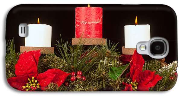 Candle Stand Galaxy S4 Cases - Christmas candle trio Galaxy S4 Case by Kenneth Sponsler