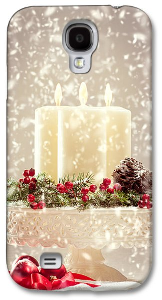 Candle Stand Galaxy S4 Cases - Christmas Candles Galaxy S4 Case by Amanda And Christopher Elwell