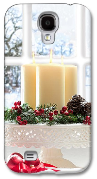 Snow Scenes Galaxy S4 Cases - Christmas Candles Display Galaxy S4 Case by Amanda And Christopher Elwell