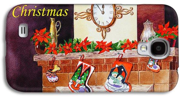 Christmas Greeting Galaxy S4 Cases - Christmas Card Galaxy S4 Case by Irina Sztukowski