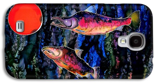 Animals Tapestries - Textiles Galaxy S4 Cases - Christmas Fish Surprise Galaxy S4 Case by Carolyn Doe