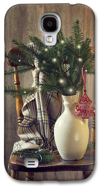 Celebration Photographs Galaxy S4 Cases - Christmas Holiday Chair Galaxy S4 Case by Amanda And Christopher Elwell