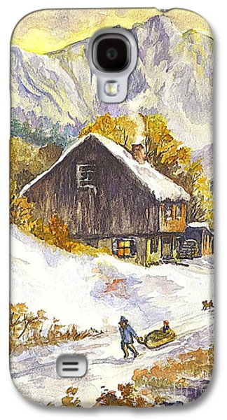 Swiss Drawings Galaxy S4 Cases - A Winter Wonderland Part 1 Galaxy S4 Case by Carol Wisniewski