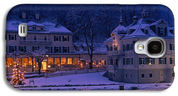 Snowy Evening Galaxy S4 Cases - Christmas Lights, Hohen-schwangau Galaxy S4 Case by Panoramic Images