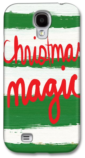 Christmas Cards Galaxy S4 Cases - Christmas Magic - Greeting Card Galaxy S4 Case by Linda Woods