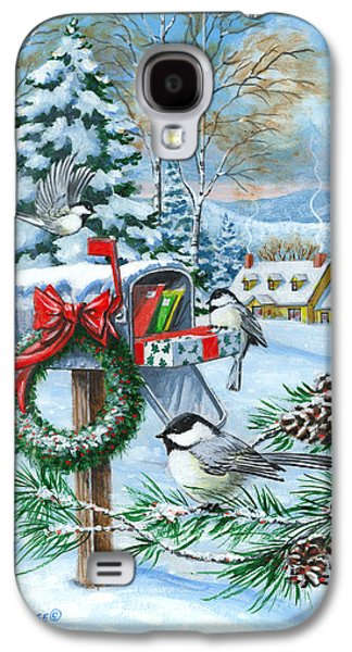 Mail Box Galaxy S4 Cases - Christmas Mail Galaxy S4 Case by Richard De Wolfe