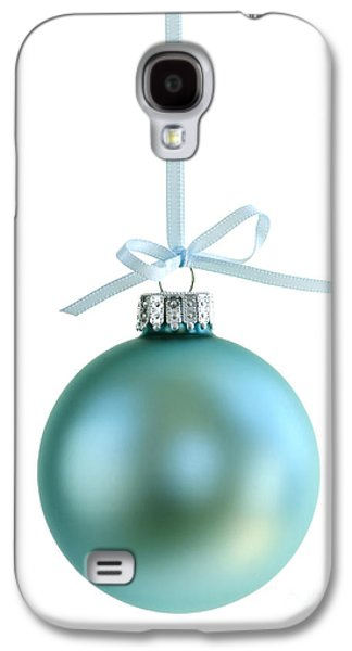 Festivities Galaxy S4 Cases - Christmas ornament on white Galaxy S4 Case by Elena Elisseeva