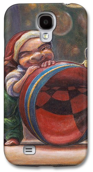Leonard Filgate Paintings Galaxy S4 Cases - Christmas Reflections Galaxy S4 Case by Leonard Filgate