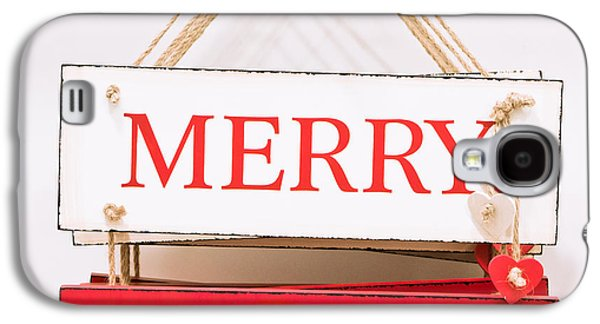 Cheers Galaxy S4 Cases - Christmas sign Galaxy S4 Case by Tom Gowanlock