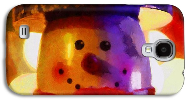 Christmas Eve Paintings Galaxy S4 Cases - Christmas Snowman Galaxy S4 Case by Dan Sproul