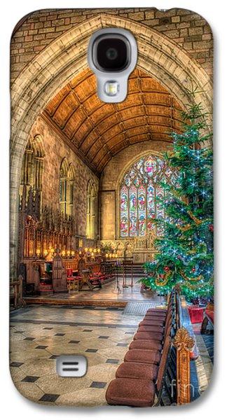 Stone Digital Galaxy S4 Cases - Christmas Tree Galaxy S4 Case by Adrian Evans