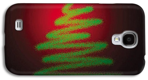 Christmas Greeting Galaxy S4 Cases - Christmas Tree With Star Galaxy S4 Case by Genevieve Esson