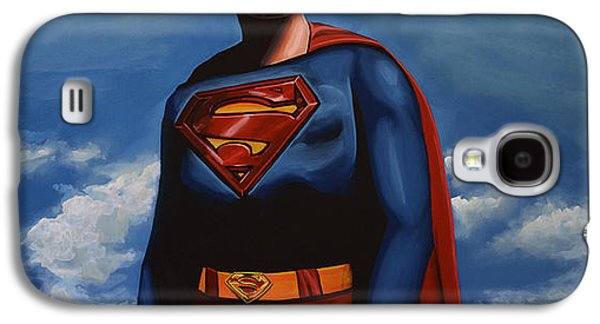 Steel Galaxy S4 Cases - Christopher Reeve as Superman Galaxy S4 Case by Paul  Meijering