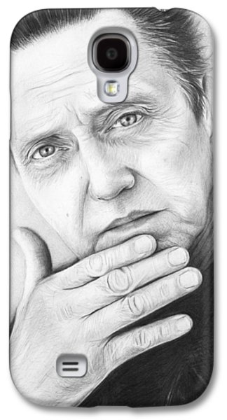 White Drawings Galaxy S4 Cases - Christopher Walken Galaxy S4 Case by Olga Shvartsur