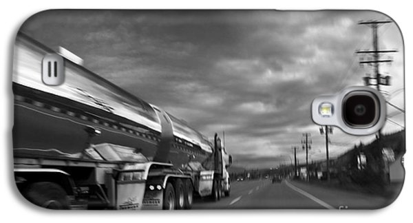 Telephone Poles Galaxy S4 Cases - Chrome Tanker Galaxy S4 Case by Theresa Tahara