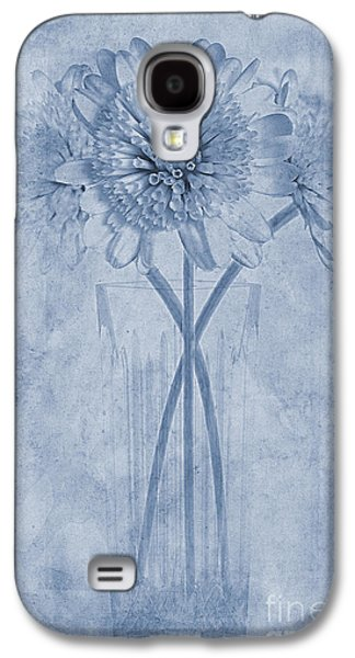 Close Focus Floral Galaxy S4 Cases - Chrysanthemum Cyanotype Galaxy S4 Case by John Edwards