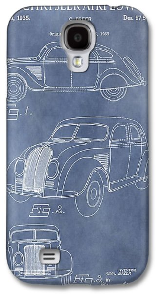 Mechanics Mixed Media Galaxy S4 Cases - Chrysler Airflow Patent Galaxy S4 Case by Dan Sproul