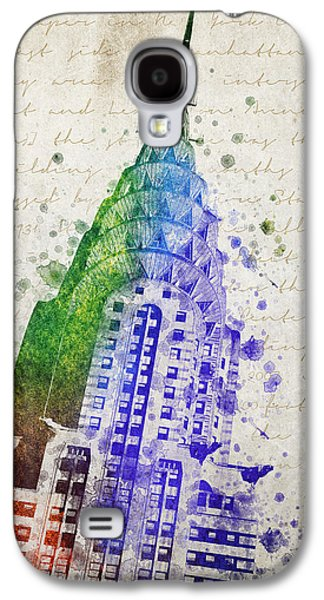 Skylines Mixed Media Galaxy S4 Cases - Chrysler Building Galaxy S4 Case by Aged Pixel