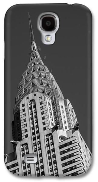 Building Photographs Galaxy S4 Cases - Chrysler Building BW Galaxy S4 Case by Susan Candelario