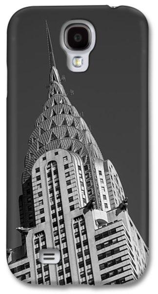 Buildings Galaxy S4 Cases - Chrysler Building BW Galaxy S4 Case by Susan Candelario