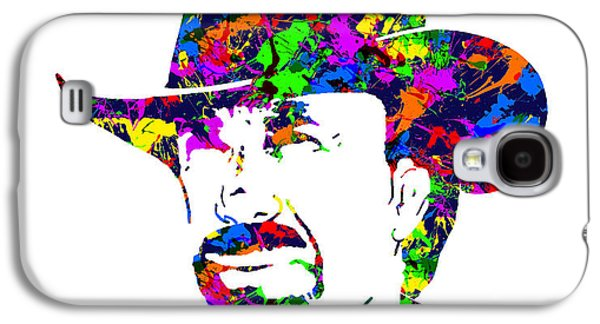 Etc. Digital Art Galaxy S4 Cases - Chuck Norris Paint Splatter Galaxy S4 Case by Gregory Murray