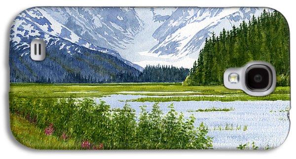 Snow Capped Galaxy S4 Cases - Chugach Glacier View Galaxy S4 Case by Sharon Freeman