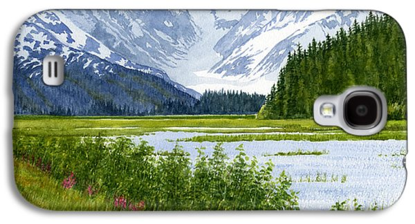 Snow Capped Galaxy S4 Cases - Chugach Glacier View Galaxy S4 Case by Sharon Freeman