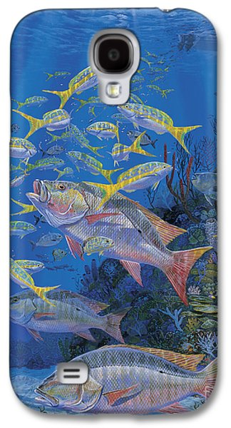 Wahoo Galaxy S4 Cases - Chum line Re0013 Galaxy S4 Case by Carey Chen