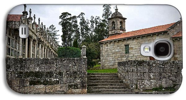 Relief Sculpture Galaxy S4 Cases - Church And Cemetery In A Small Village In Galicia Galaxy S4 Case by RicardMN Photography