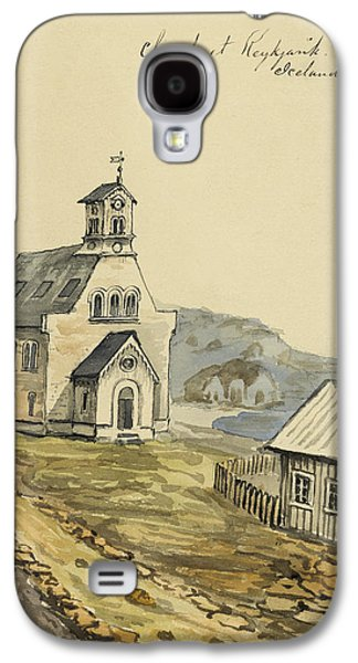 Building Drawings Galaxy S4 Cases - Church at Rejkjavik Iceland 1862 Galaxy S4 Case by Aged Pixel