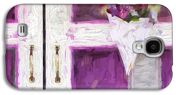 Screen Doors Galaxy S4 Cases - Church Camp House Detail Painterly Series 16 Galaxy S4 Case by Carol Leigh