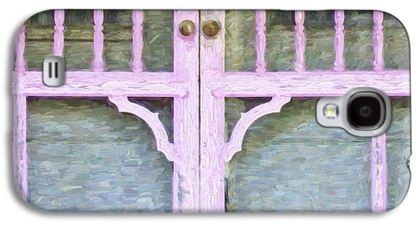 Screen Doors Galaxy S4 Cases - Church Camp House Detail Painterly Series 9 Galaxy S4 Case by Carol Leigh