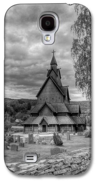 Headstones Galaxy S4 Cases - Church in Rural Norway Galaxy S4 Case by Mountain Dreams