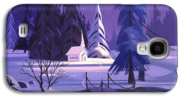 Winter Landscapes Galaxy S4 Cases - Church In Snow Galaxy S4 Case by Michael Humphries